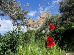 Einer der antiken Wachtürme, die die antike Stadt Troizen bewachte. (c) Tobias Schorr