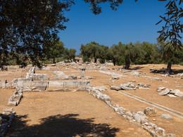 Blick auf die Reste des Akslepions von Troizen (c) Tobias Schorr