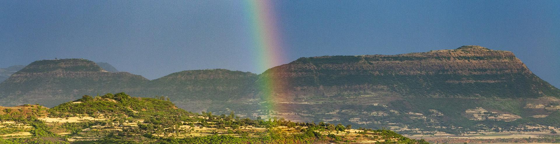 Regenbogen über Axum