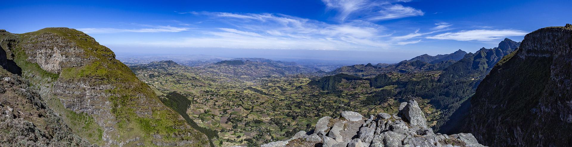 Blick in eine vulkanische Landschaft