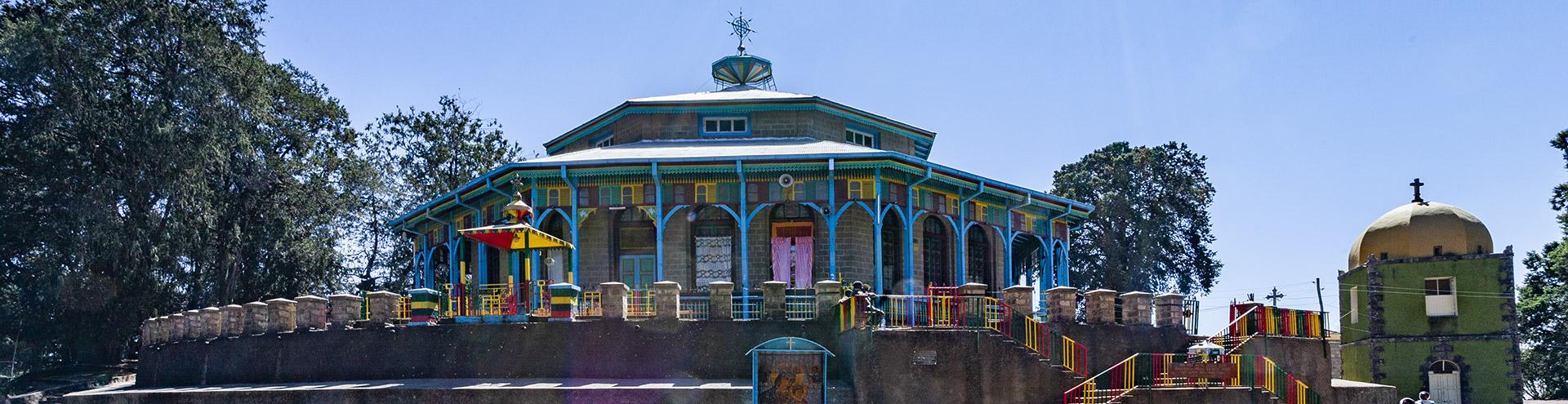 Die Entoto Maryan Kirche in Addis Abeba