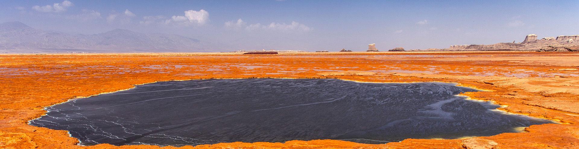 Die Salztümpel der Danakil-Wüste
