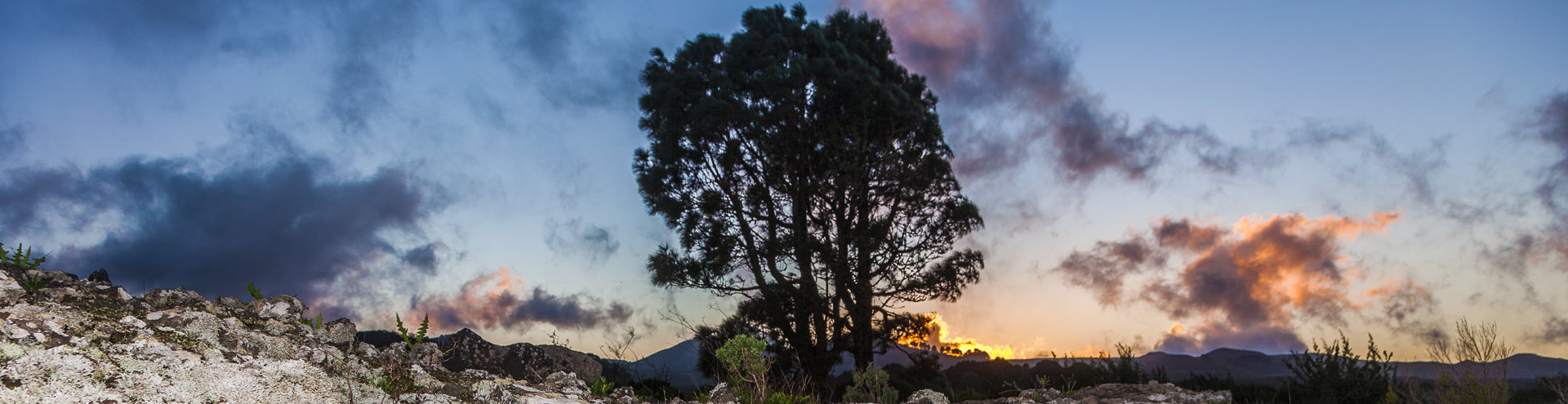 Dusk at El Hierro island