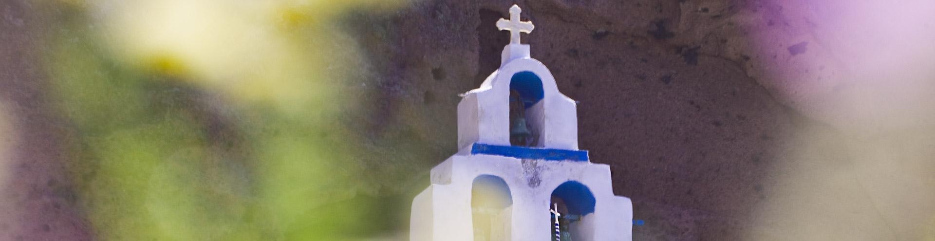 Kirche in der Plaka-Bucht