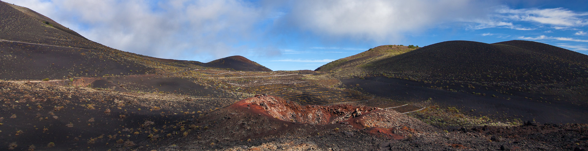 The volcano Teneguia on La Palma island