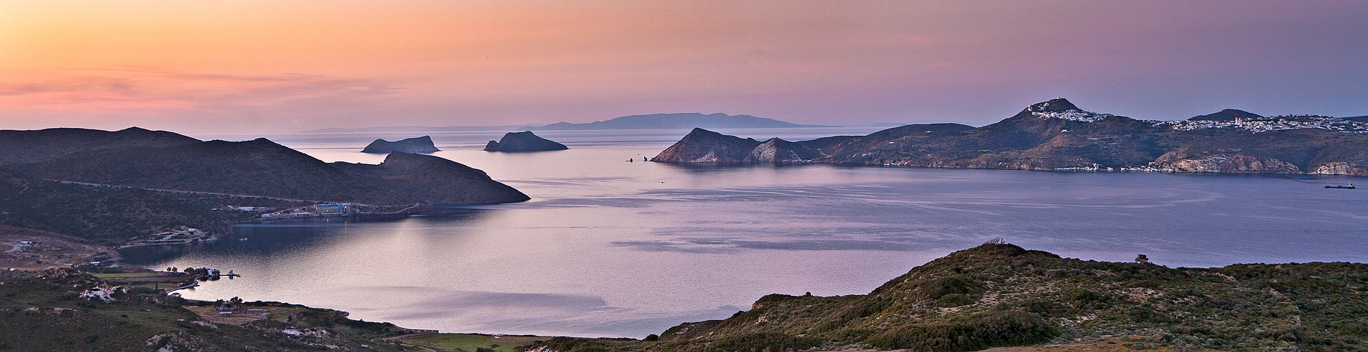 The bay of Milos island